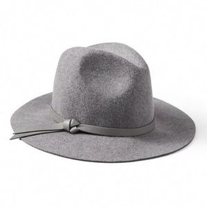 Banana Republic Gray Fedora Wool Felt Hat